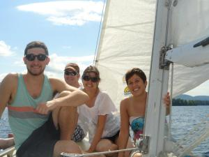 Sailing on Lake George