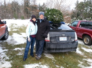 We're together sometimes. Like when I insist we are having a live Christmas tree. Which we'll cut down ourselves. (Well, which Michael will cut down.)