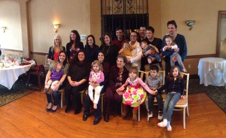 This picture is only the grandkids and great-grandkids.