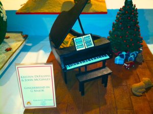 Not all entries are actually houses . . . Gingerbread piano anyone?